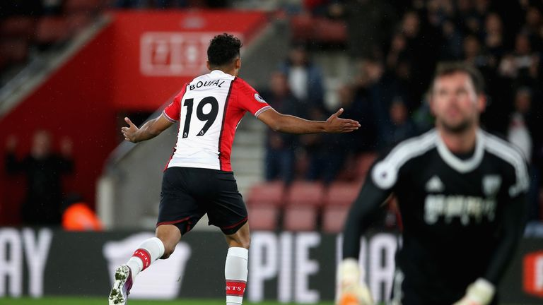 Sofiane Boufal celebrates his celebrates his winner