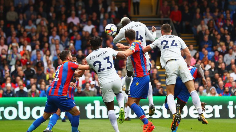 Bakayoko scores his first Premier League goal against Crystal Palace