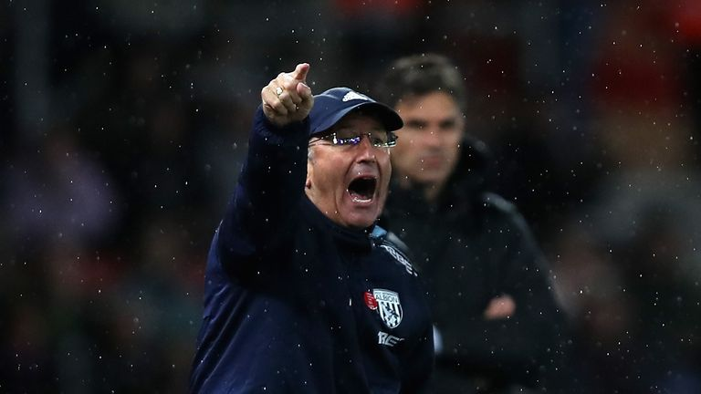 Tony Pulis saw his West Brom side beaten at Southampton