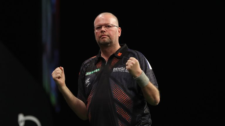 Raymond van Barneveld will face John Henderson in the quarter-finals of the Grand Prix on Thursday