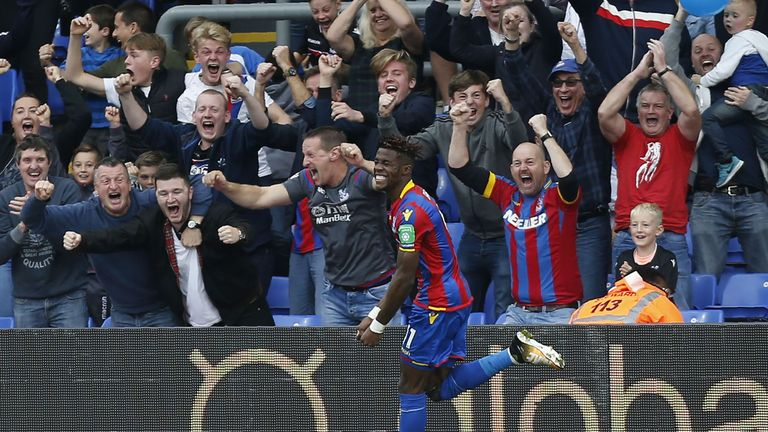 Wilfried Zaha was key for Crystal Palace as they beat Chelsea last weekend