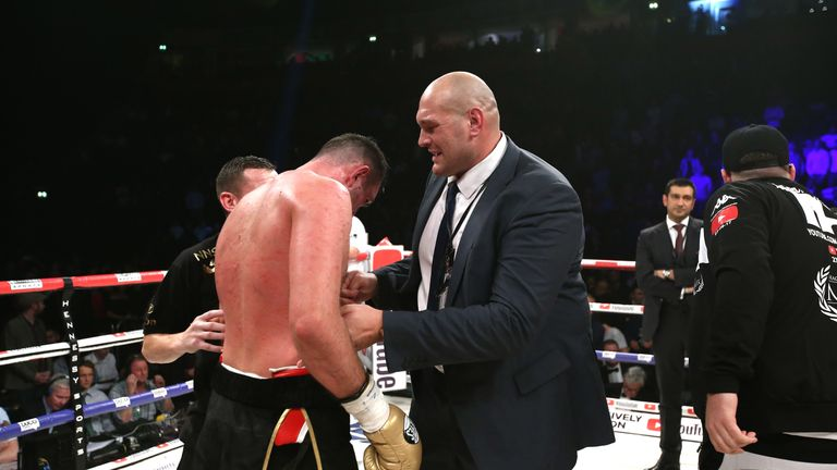 Fury watched cousin Hughie Fury's defeat by WBO champion Joseph Parker