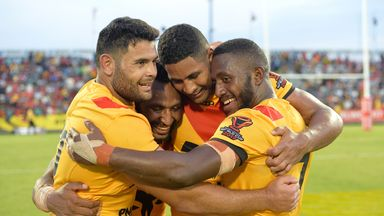 Papua New Guinea beat Wales, Ireland and the USA in Port Moresby during last year's World Cup