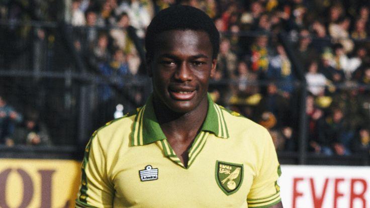 Norwich City striker Justin Fashanu poses before kick off at a game at Carrow Road, circa 1981