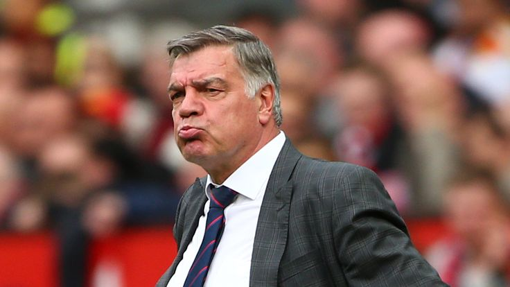 MANCHESTER, ENGLAND - MAY 21: Crystal Palace manager Sam Allardyce during the Premier League match between Manchester United and Crystal Palace at Old Traf