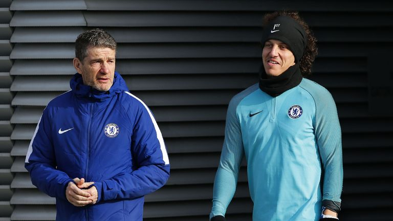 David Luiz was a surprise omission from Chelsea's matchday squad against Manchester United