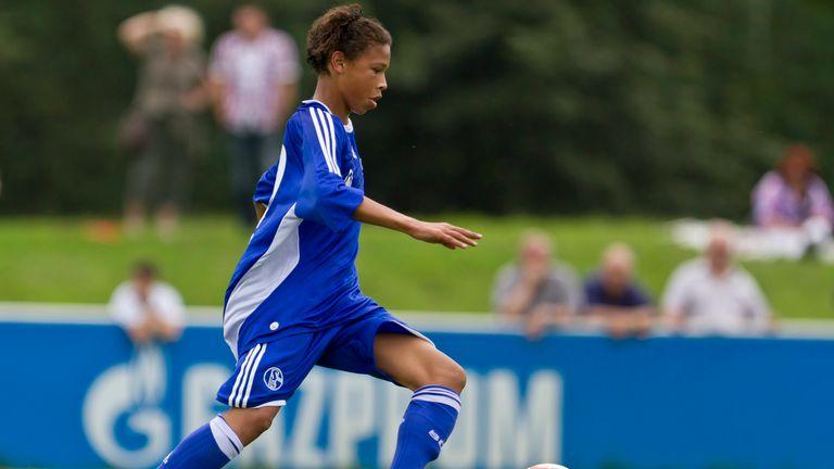 Leroy Sane in action for Schalke Under-17s against Hansa Rostock in August 2011 [MUST CREDIT: FC SCHALKE]