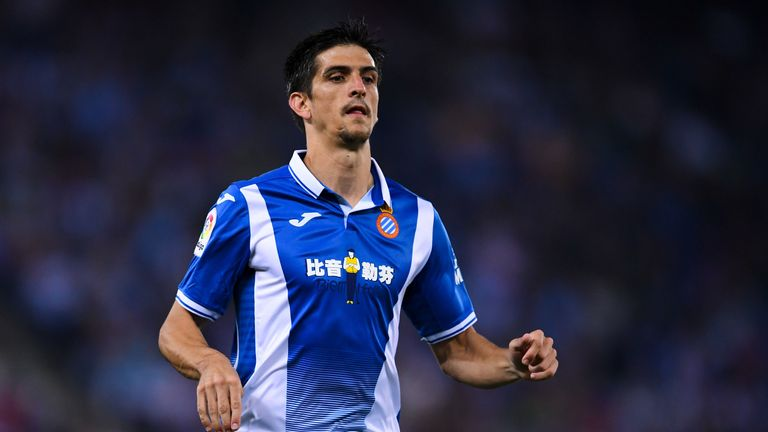 Espanyol's Gerard put his team ahead early in the second half at the RCDE Stadium