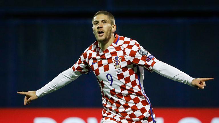 Andrej Kramaric celebrates his goal in Zagreb