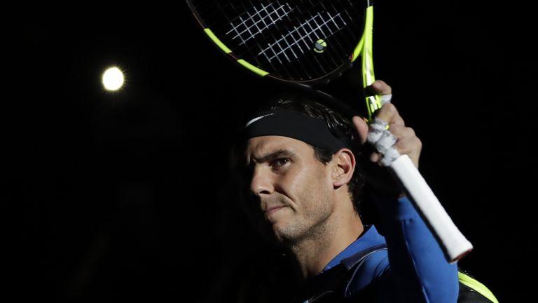 Nadal experienced discomfort in his knee against Uruguay's Pablo Cuevas during the Paris Masters last week