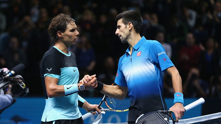 Djokovic (R) has called Nadal the 'biggest rival' of his career