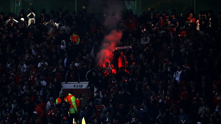 Benfica have been charged by UEFA after fireworks were set off at Old Trafford