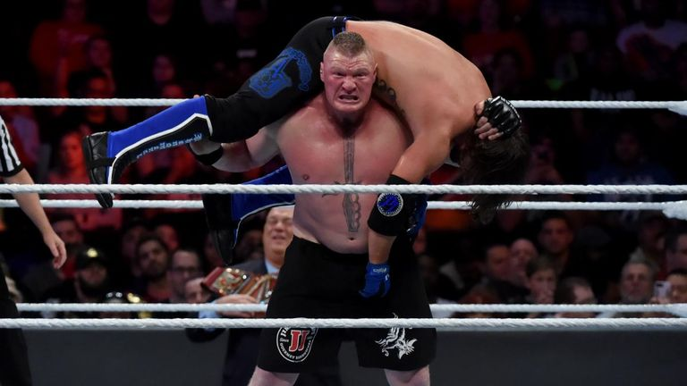 Styles took Lesnar to the brink at Survivor Series but ultimately succumbed to an F5