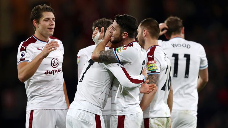 Sean Dyche praised his Burnley players for bouncing back from their defeat to Arsenal
