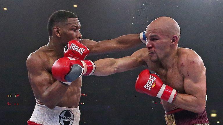 Caleb Truax (right) fought Daniel Jacobs in 2015