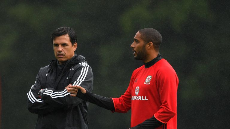 Williams (right) hopes Chris Coleman stays on as manager
