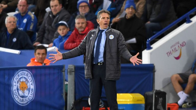 Puel has picked up four points in his first two games as Leicester manager