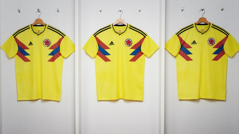 Colombia's World Cup home shirt