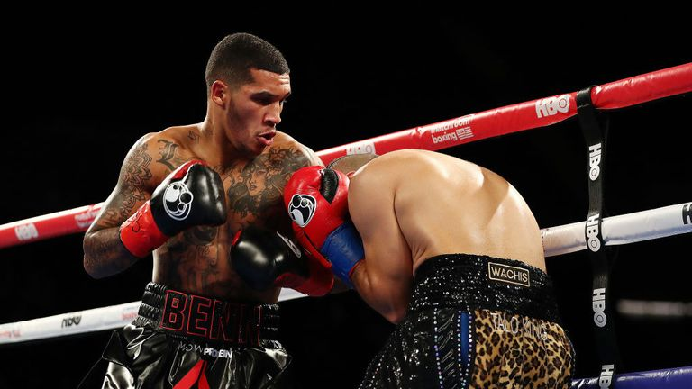 Conor Benn moved to 10-0 on his debut in America