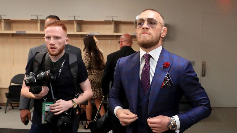 Conor McGregor has apologised for sparking a Saturday night ring row