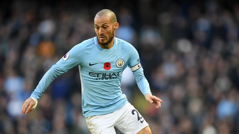 MANCHESTER, ENGLAND - NOVEMBER 05:  David Silva of Manchester City in action during the Premier League match between Manchester City and Arsenal at Etihad
