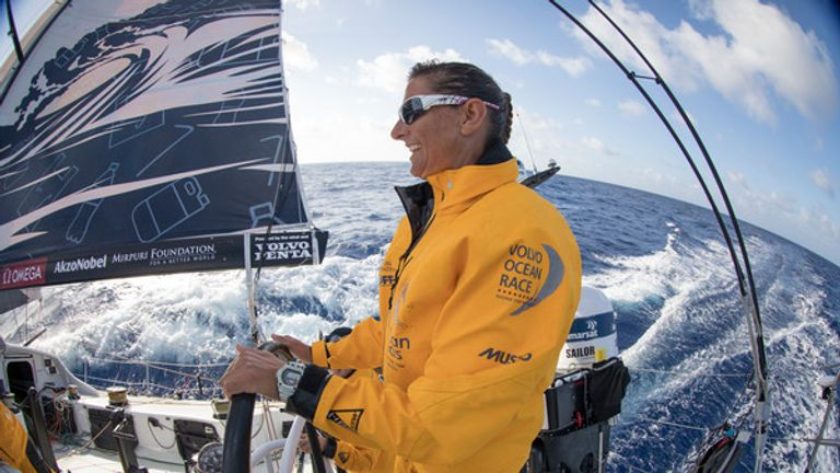 Dee Caffari's crew is nearly at the end of leg 6
