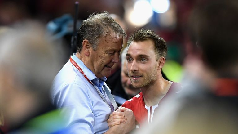 Denmark midfielder Christian Eriksen is in world's top 10, says Age Hareide