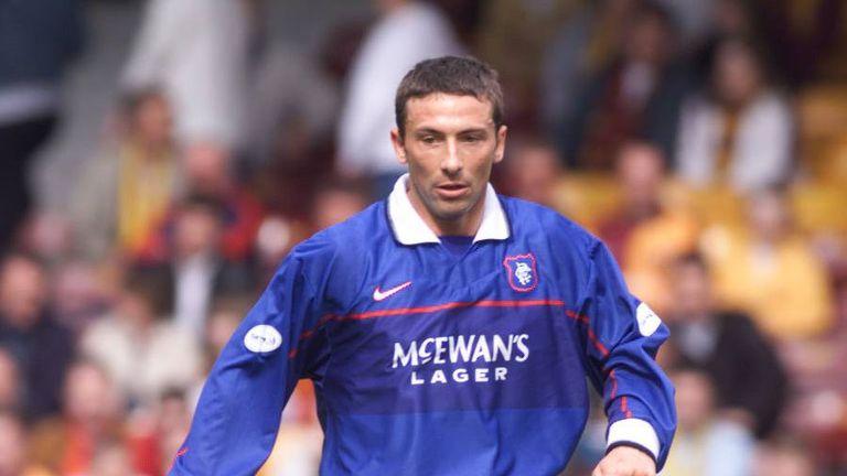 Derek McInnes in action for Rangers at Fir Park in 1999