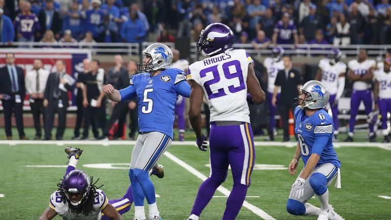 The Vikings lost out by a field goal to the Lions on Thanksgiving last year