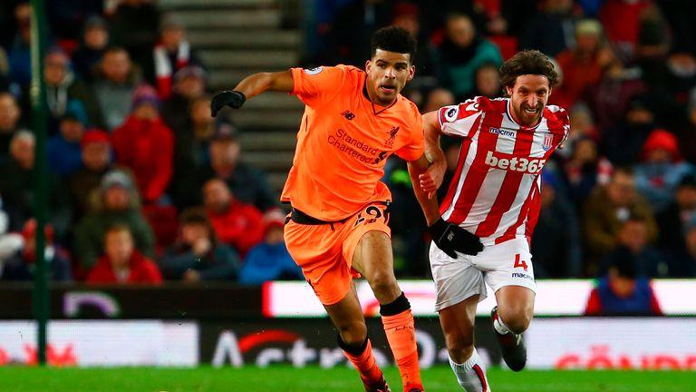Dominic Solanke made his first Premier League start against Stoke