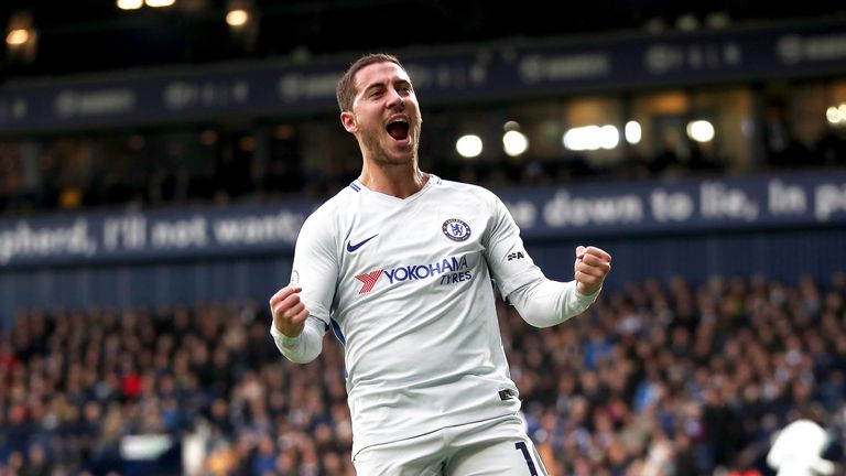 Hazard has scored 15 goals for Chelsea this season