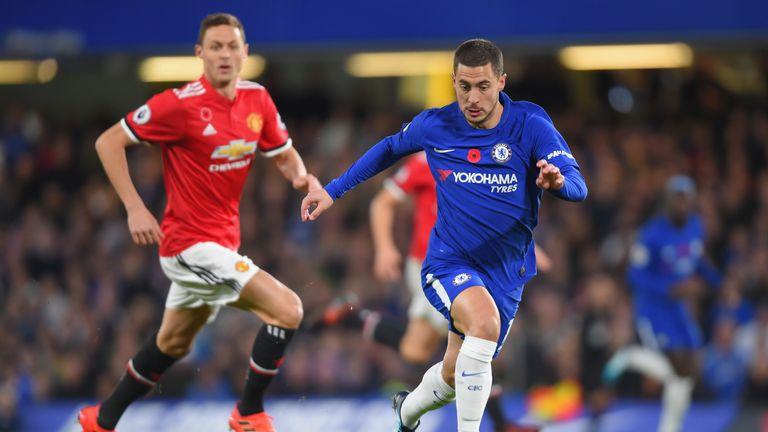 Eden Hazard in action at Stamford Bridge