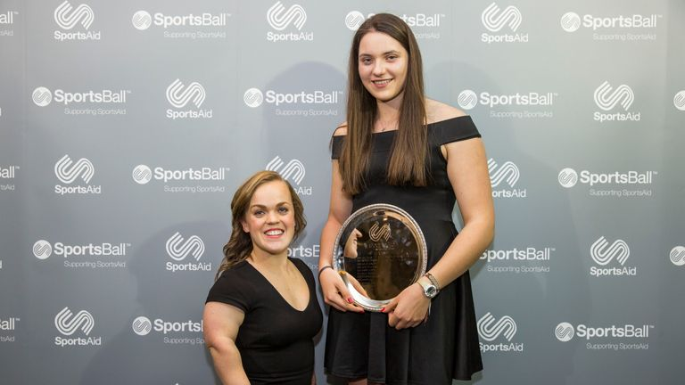 Ellie Simmonds presented the 2017 One-to-Watch award to rower Holly Dunford