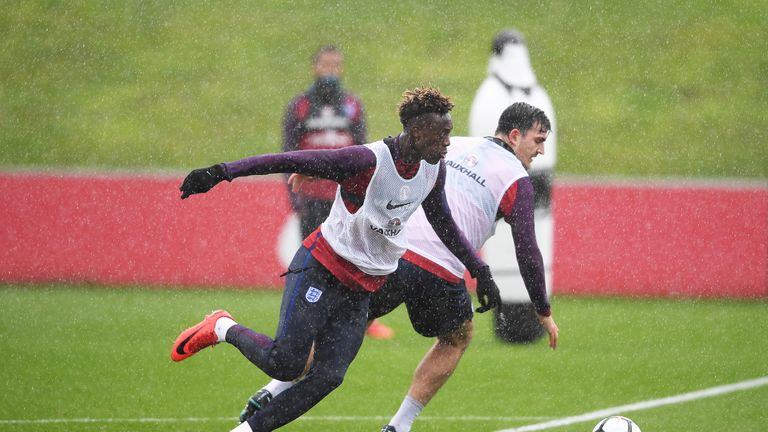 Tammy Abraham is expected to make his international debut against Germany