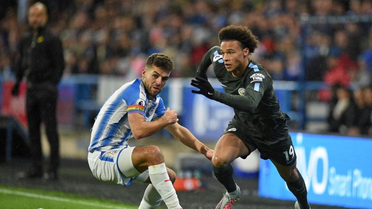 Manchester City beat Huddersfield 2-1 in November