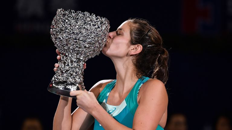 Julia Goerges has continued her 2017 end-of-season form into the new campaign