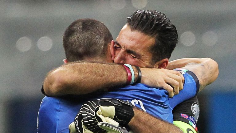 Buffon retired from international football following Italy's play-off defeat to Sweden, that saw them fail to reach the World Cup for the first time in 60 years