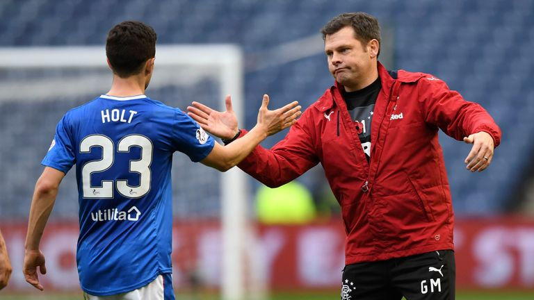Rangers' 2-0 win over Motherwell on Wednesday was Graeme Murty's first since taking permanent charge