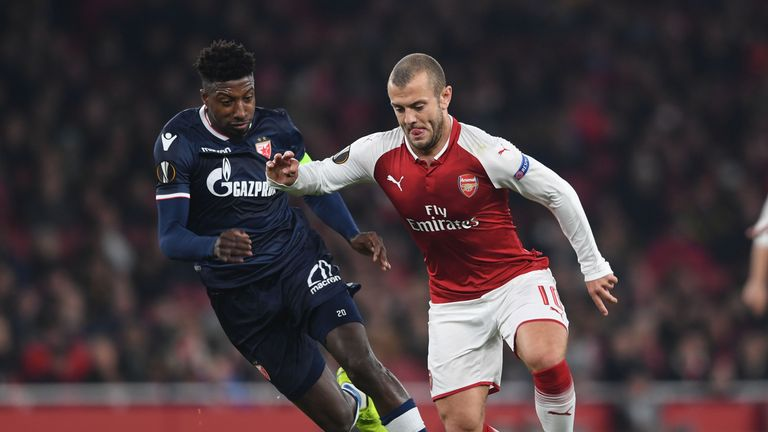 Jack Wilshere featured for Arsenal in Thursday's draw with Red Star Belgrade