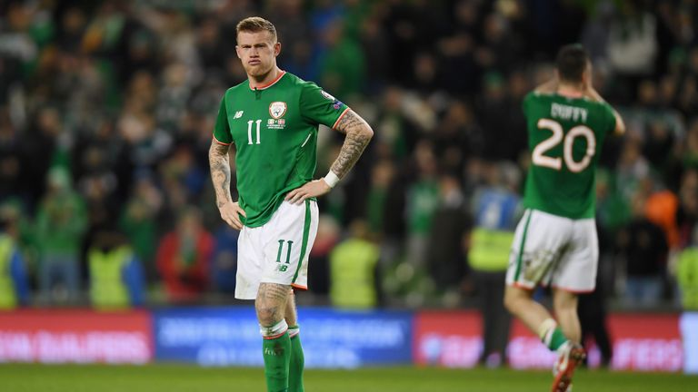 James McClean will miss Ireland's UEFA Nations League match against Wales