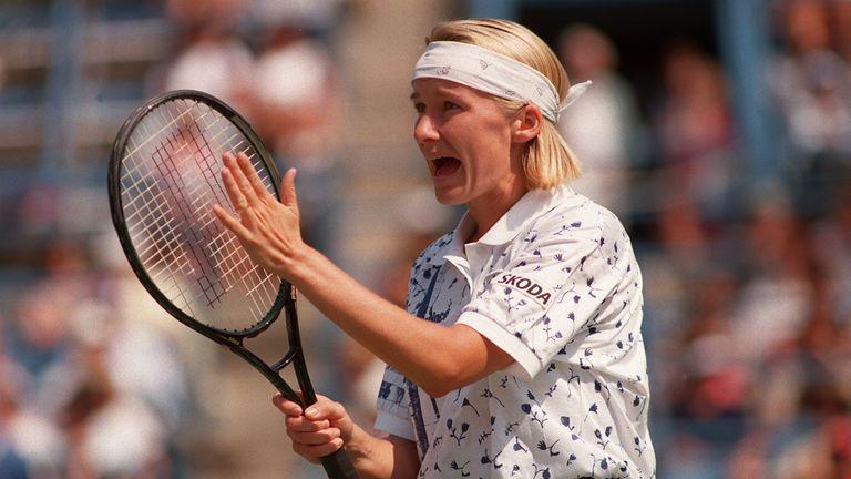 Novotna won Wimbledon at the third attempt in 1998