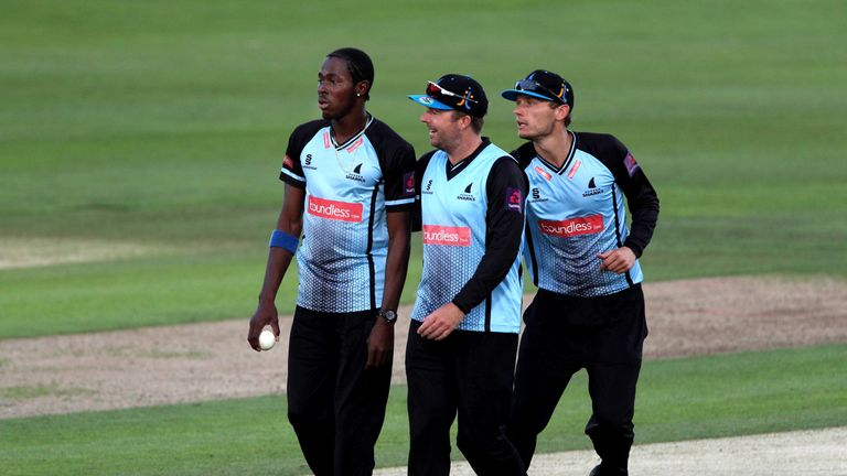 Archer (L) has proven a huge hit on the south coast since signing for Sussex