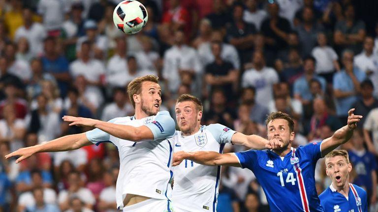 Harry Kane and Jamie Vardy on England duty at Euro 2016