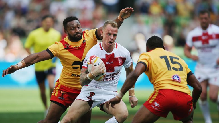 Kevin Brown went off at half-time for England but is expected to be fit for next week's semi-final with Tonga