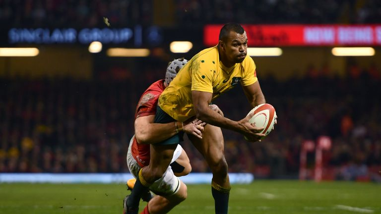 Beale featured in Australia's win over Wales in Cardiff