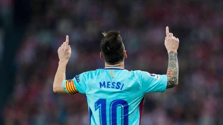 Messi's current Barcelona contract is set to expire at the end of the season