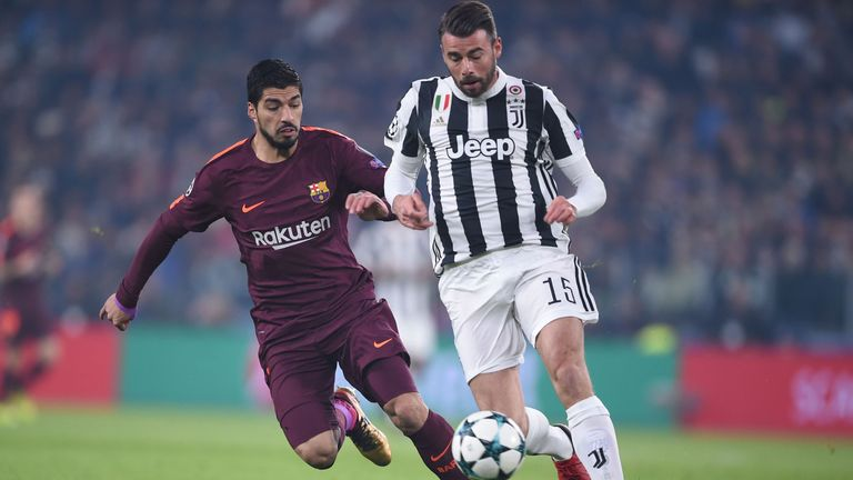 Andrea Barzagli (right) is an injury doubt for Juventus