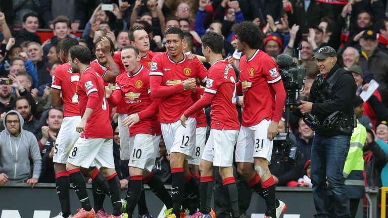 Old Trafford on April 12, 2015 in Manchester, England
