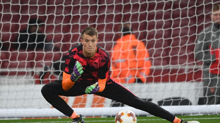 Matt Macey kept a clean sheet on his second Arsenal appearance