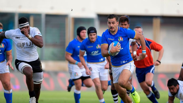 Italy ended their Test losing streak with a 19-10 win over Fiji